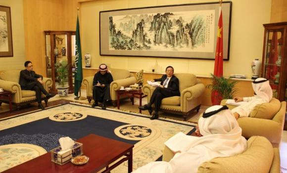 Li Chengwen, Chinese ambassador to Saudi Arabia, at a media forum he hosted on Thursday.