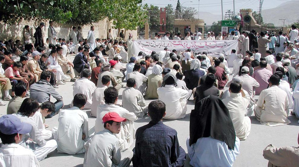 Members of the Hazara ethnic community seen here in Quetta, Pakistan.