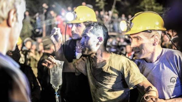 A flood at a mine in the southern Karaman region left 18 miners trapped.