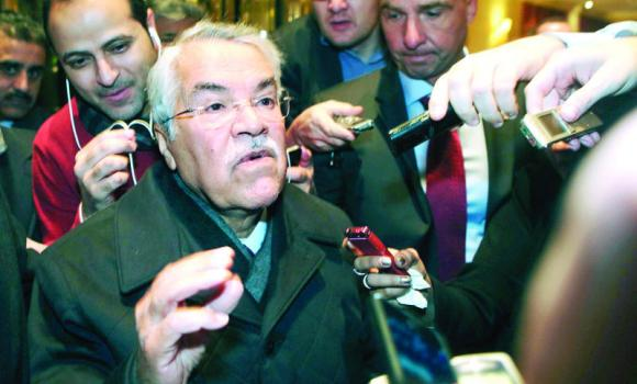 Petroleum and Mineral Resources Minister Ali Al-Naimi gestures as he arrives at his hotel ahead of an OPEC meeting in Vienna.