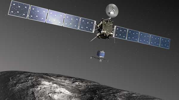 Artist's impression of Rosetta and Philae at the comet.