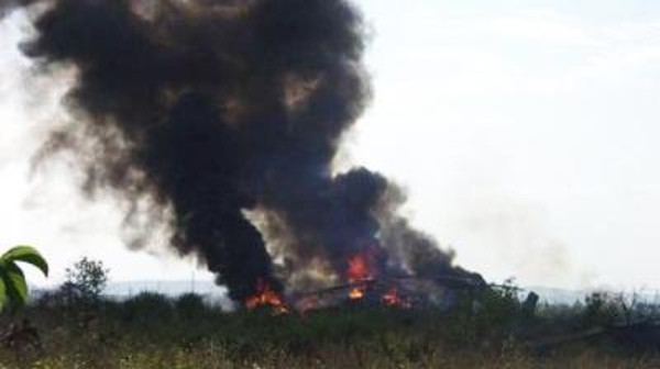 Azerbaijan said its forces shot down the Russian-made Mi-24 helicopter gunship after it tried to attack its positions.