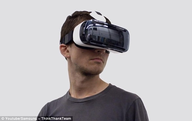 Samsung's VR Gear headset needed to watch the vidoes and photos taken with the 3D camera.