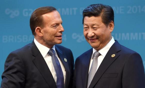 Australia's Prime Minister Tony Abbott officially welcomes China's President Xi Jinping to the G20 Leaders' Summit in Brisbane.