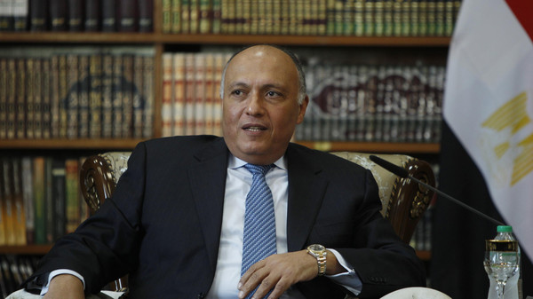 Egyptian FM Sameh Shoukry arrived in Morocco on Thursday for a 24-hour visit to ease the diplomatic row between Cairo and Rabat.