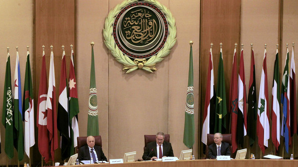 Foreign ministers of the Arab League take part in an emergency meeting at the League's headquarters in Cairo March 9, 2015.