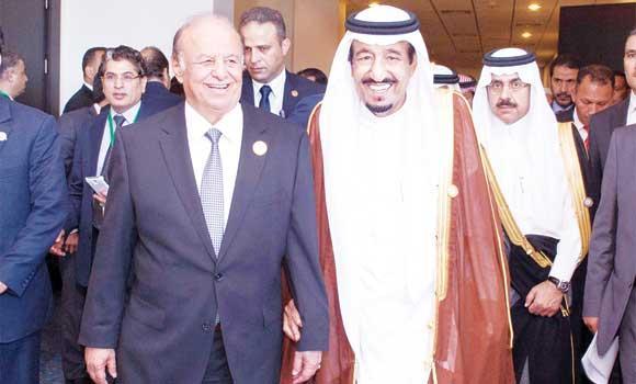 King Salman and Yemen President Abed Rabbo Mansour Hadi leaving for Riyadh