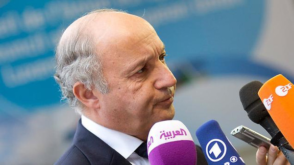 Laurent Fabius said the deal with Iran has to guarantee that Tehran can't have access to the atomic bomb.