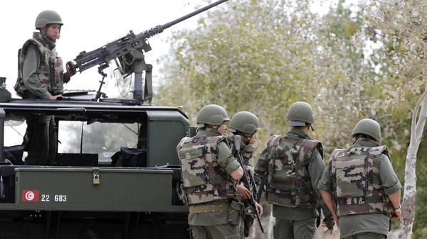 Last month, four Tunisian police were killed in a militant attack in the same central region of Kasserine.