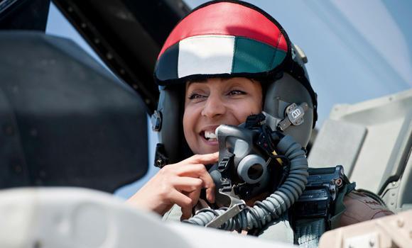 UAE fighter jet pilot Maj. Mariam al-Mansour.