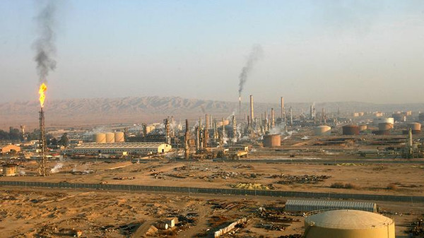 Baiji oil refinery, 180km (112 miles) north of Baghdad.