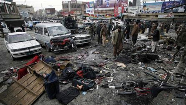The bomb went off in the town of Sibi 130 kilometres southeast of the provincial capital Quetta.