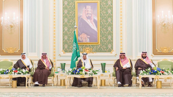 In the meeting, the Saudi king lauded the 'forces who are defending our religion before anything else'