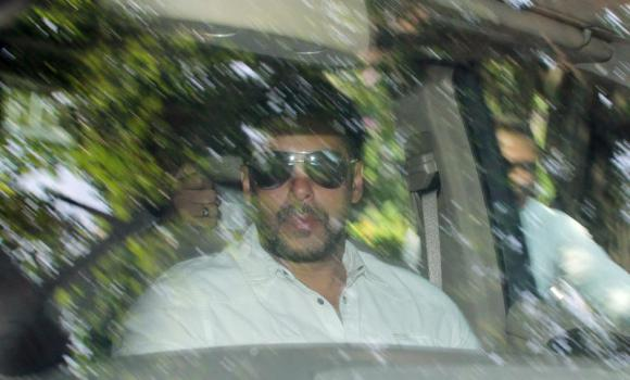 Bollywood actor Salman Khan arrives at a court in Mumbai.