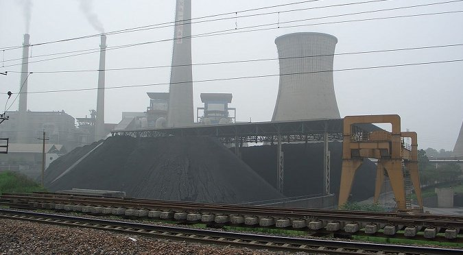 Coal power plant in China.