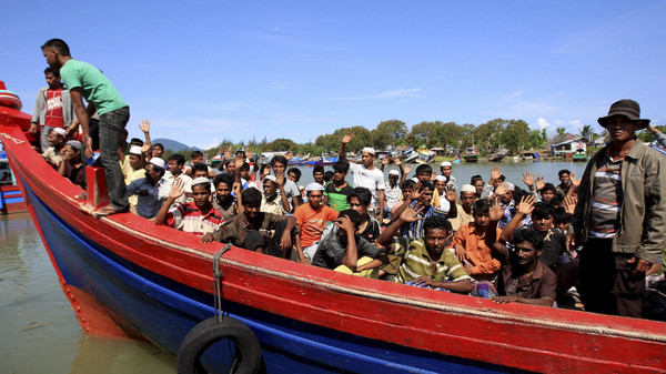 Malaysia turned away a boat arriving at its shore containing more than 500 Rohingya Muslims and Bangladeshis.