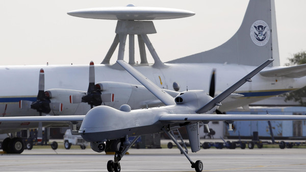 """""""The U.S. drone fired two missiles targeting a militant compound, killing four rebels,"""" a senior security official told AFP on condition of anonymity."""