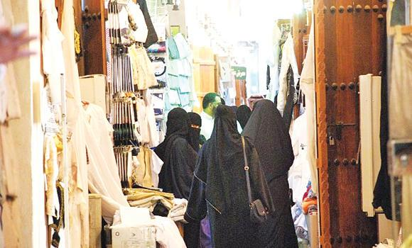 Residents shop at Al-Qaisariyah.