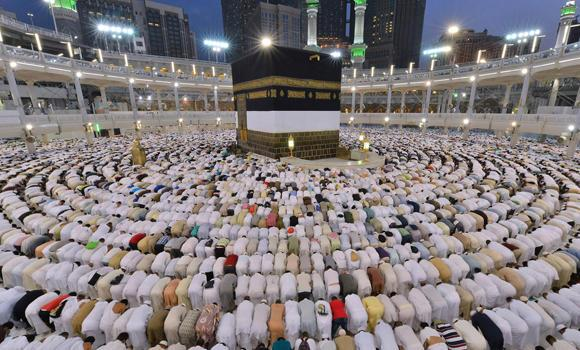 In this undated picture released by the Saudi Press Agency (SPA) on Sunday, worshippers pray at the Holy Kaaba in Makkah.