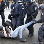 Berlin protesters, police clash near anti-migrant march