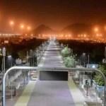 Pedestrian route from Arafat to Mina ready to receive pilgrims