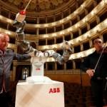 YuMi the robot conducts Verdi with Italian orchestra
