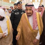 Saudi King Salman prays at Quba Mosque in Medina