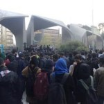 Iran protests continue for sixth night as clashes with police erupt
