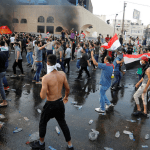 Iraqis stage peaceful protest in southeastern Baghdad