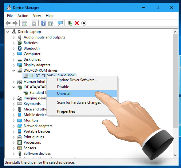 Device Manager - Uninstall Devices