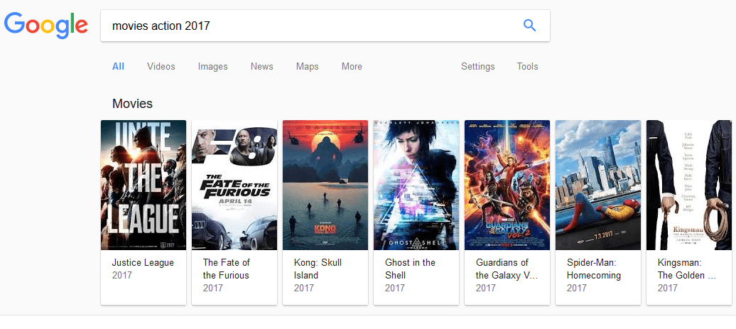 Action Movies 2017 on Google