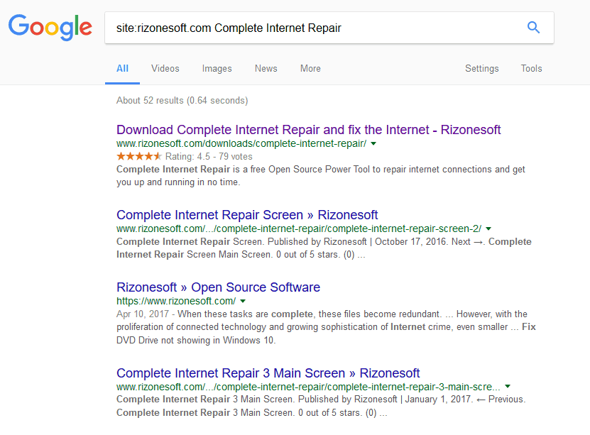 Search within a Particular Website using Google