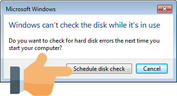 Windows 7 Schedule Disk Check
