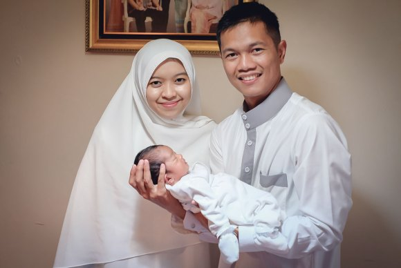 Aqiqah Me, My Wife, and My Son