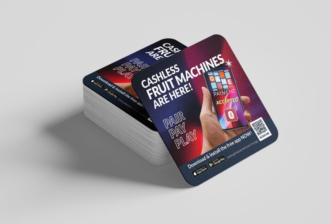 Game Payment Technology beer mats