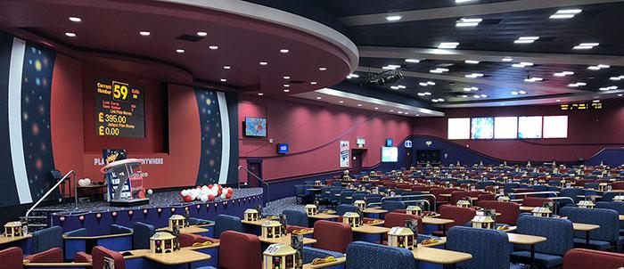 Buzz Bingo main hall in Enfield London UK