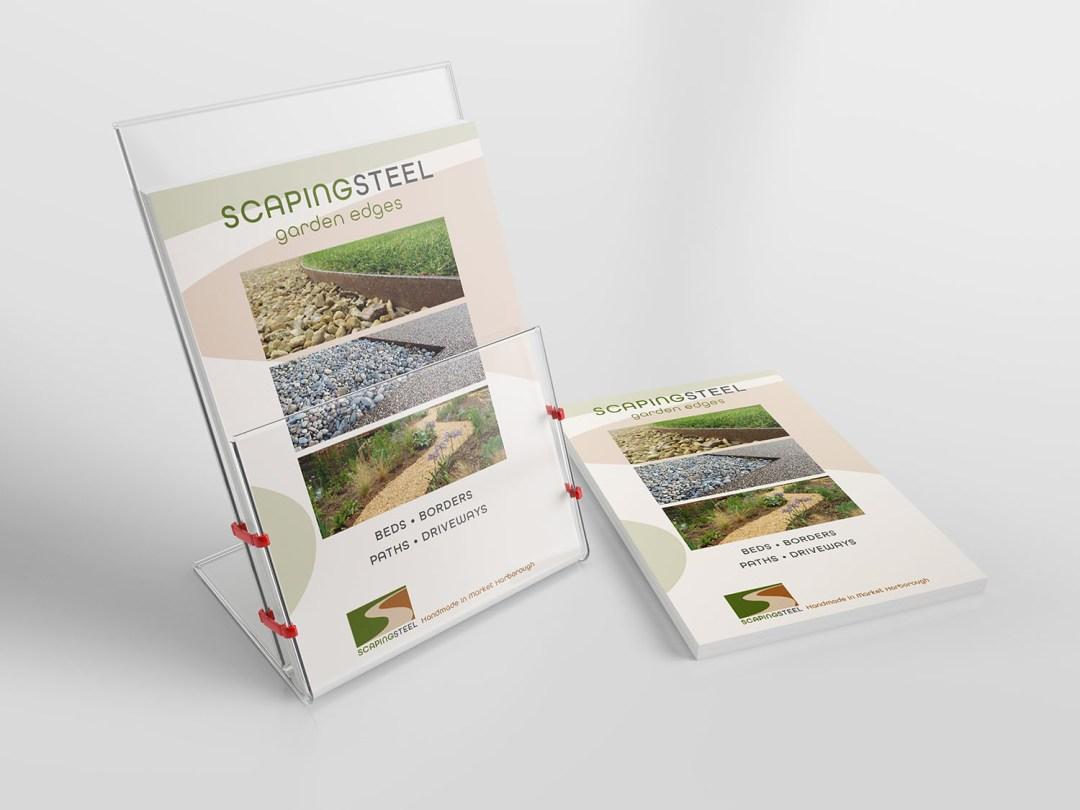 Scapingsteel promotional leaflets in holder