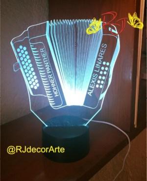 lampara led personalizada Acordeon