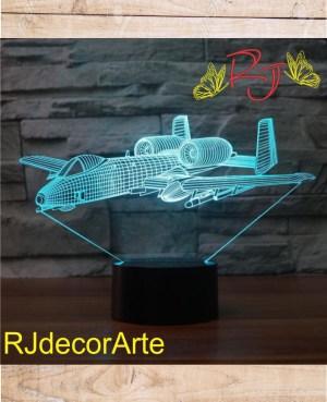 Lampara led avion 3