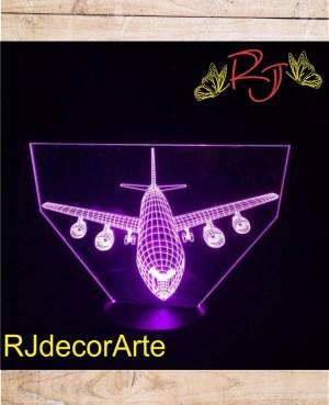 Lampara led avion 4