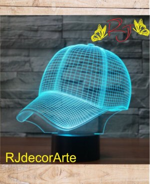 lampara led 3d gorra