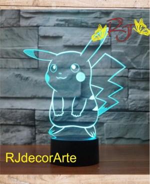 lampara led pikachu