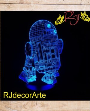 lampara led 3d R2-D2