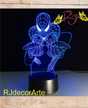 lampara led spider man