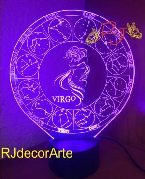Lampara zodiaco virgo