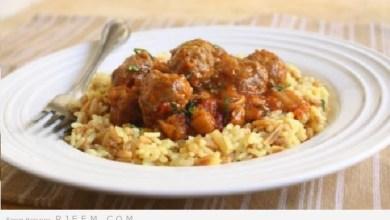 Photo of كرات اللحم والباذنجان بصلصة الطماطم