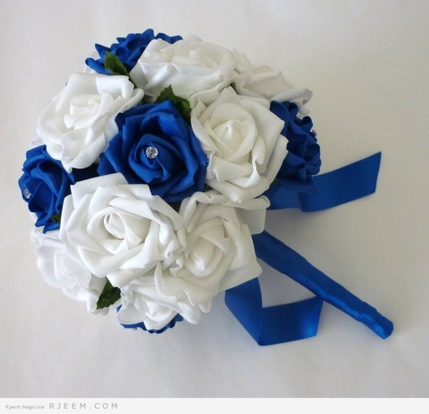 مسكات زهور باللون الازرق روعه