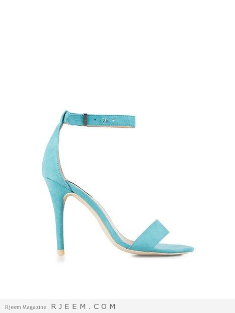 أحذية بألوان الازرق روعه