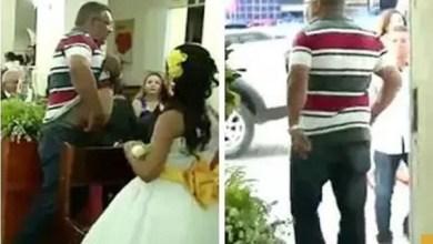 Photo of فيديو: رجل يتسلل خلف عروسين داخل كنيسة ويطلق النار على أحد المدعوين