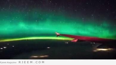Photo of فيديو: راكب طائرة يرصد مشهد مذهل للشفق القطبي في كندا